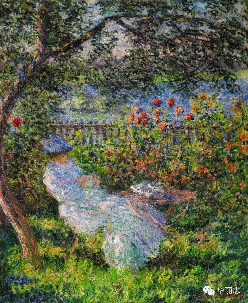 Claude Monet Alice hoschedé au jardin. 1881