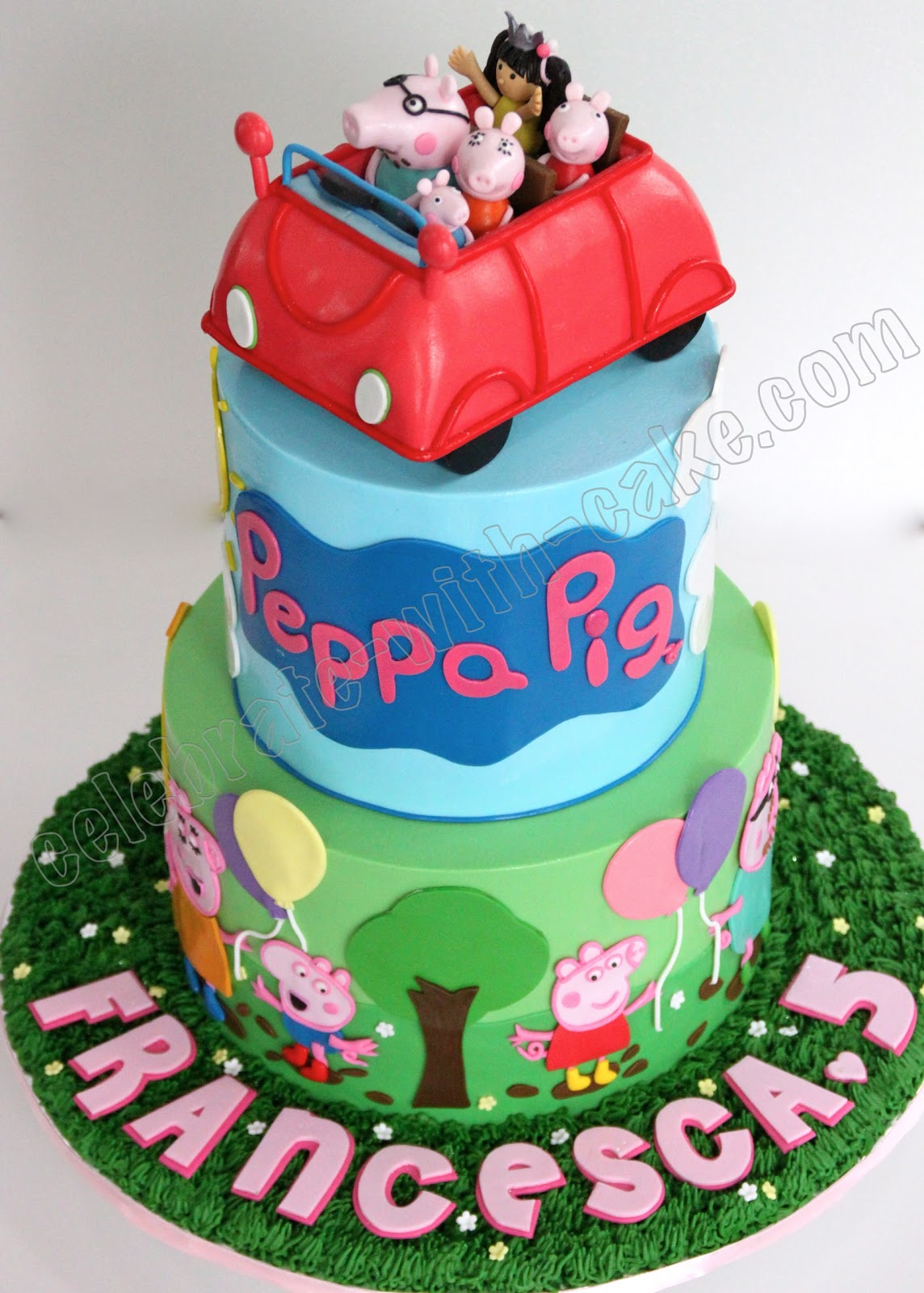 Peppa Pig Birthday Cake Singapore a Really Cute Peppa Pig Cake