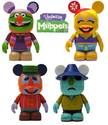 The Muppets Disney Vinylmation Series 2 - Dr. Teeth, Janice, Floyd Pepper & Zoot 3 Inch Vinyl Figures