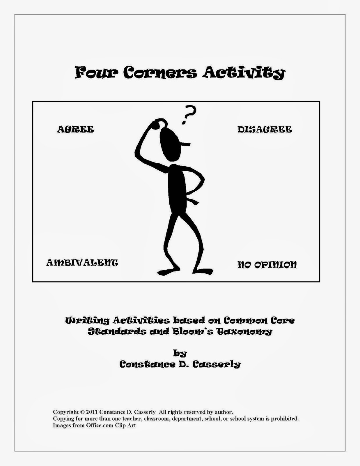 Middle School and High School Activity: Critical Thinking: Four Corners Activity cover