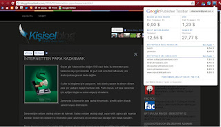 Kişisel blog google adsense