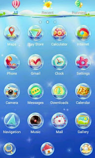 Screenshots of the Sea Floor GO Super Themes for Android mobile, tablet, and Smartphone.