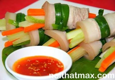 Cách làm thịt heo cuộn rau củ - món ngon mỗi ngày