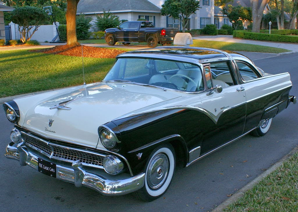 All american classic cars 1955 ford fairlane crown for 1955 ford 2 door
