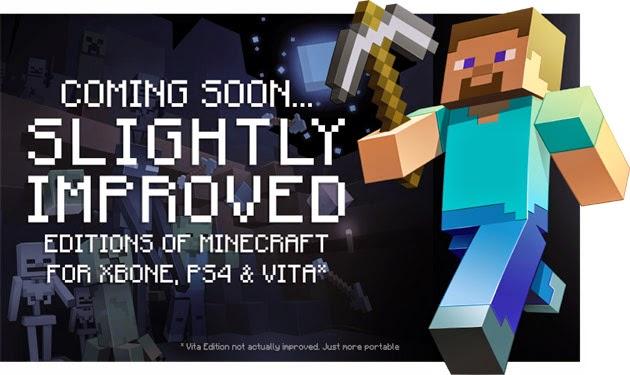 Minecraft llegará a PS4, PS Vita y Xbox One en agosto