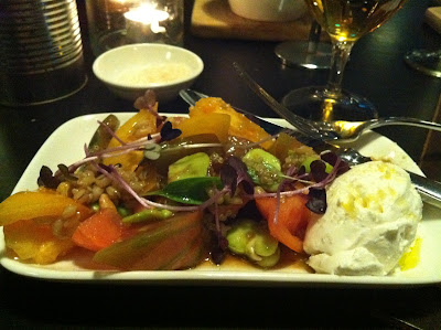 Southernspoon blog: heirloom tomato salad @ Sydney Theatre Co's The Bar at the End of the Wharf