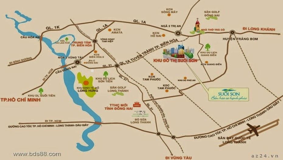 Bản đồ tọa độ dự án