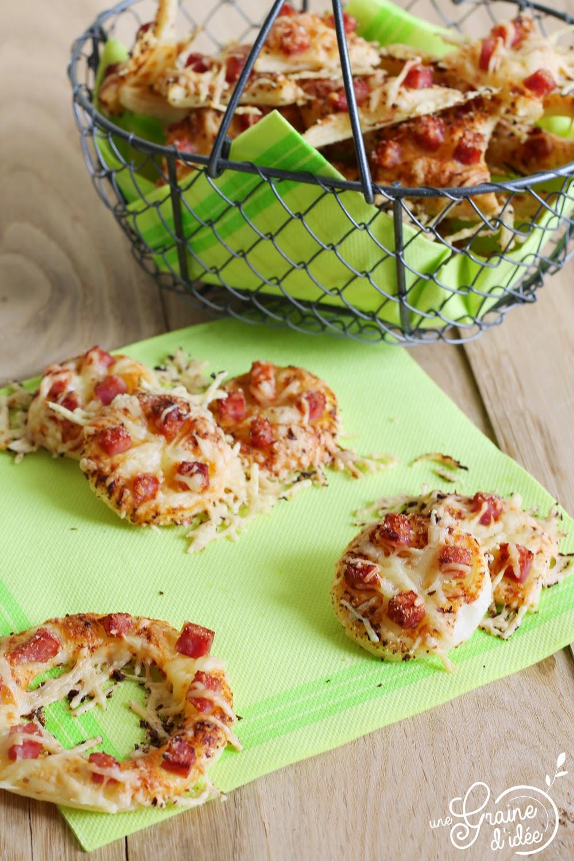 Feuilleté parmesan oignons dés de jambon - Une Graine d'Idée