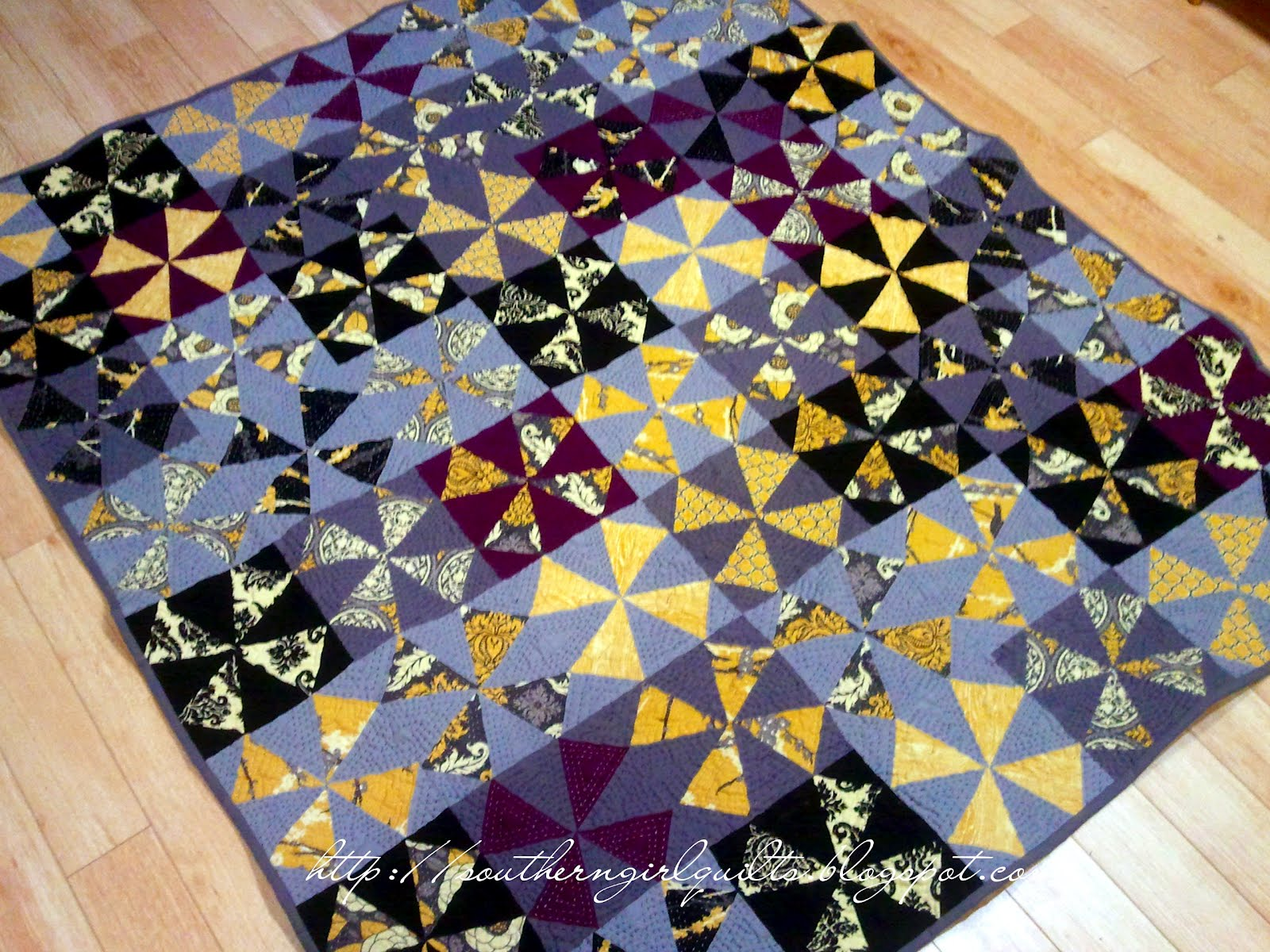 Southern Girl Quilts: Finished 2012: Kaleidoscope Quilt : southern quilts - Adamdwight.com