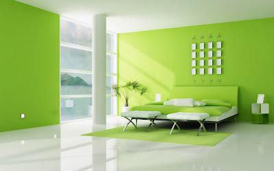 Home interior naturegn modern green