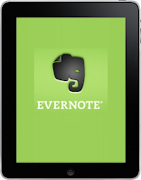 Evernote app on the i Pad