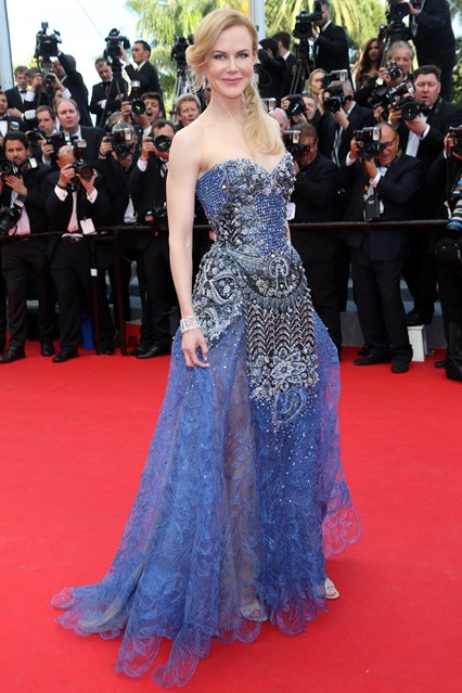 Nicole Kidman wore an Armani Privé gown with jewellery by Harry Winston at Cannes 2014