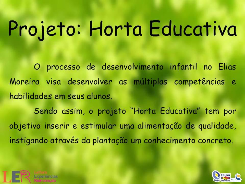 Excepcional Educação Infantil Elias Moreira: Horta Educativa / PI Infantil JN62