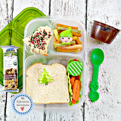 My Epicurean Adventures: Lunch Box Fun 2015-16: Week #17-18. Lunch box ideas, school lunch ideas, lunches, christmas sandwich