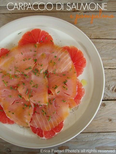 Ricetta Carpaccio di salmone e pompelmo