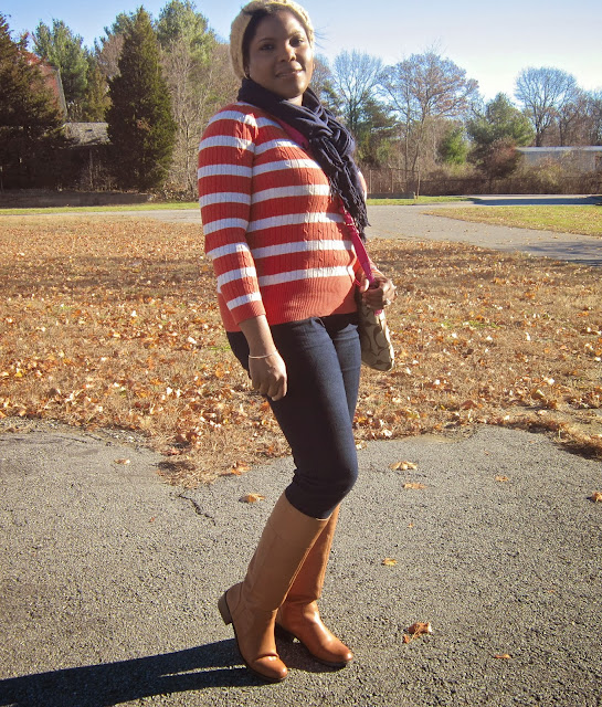 Striped Tommy Hilfiger Sweater, Jessica Simpson Jeggings