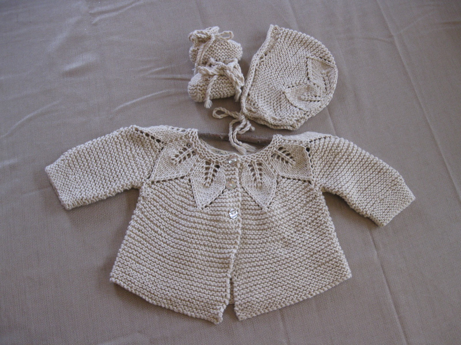 Knit Leaf Pattern Baby Sweater : Of Wool and Loveliness: DIY Crystal Chandelier and a Lacy ...