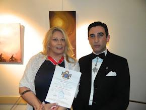 El sábado 22 de septiembre la directora del BLOG fue condecorada con la Flor de Lis