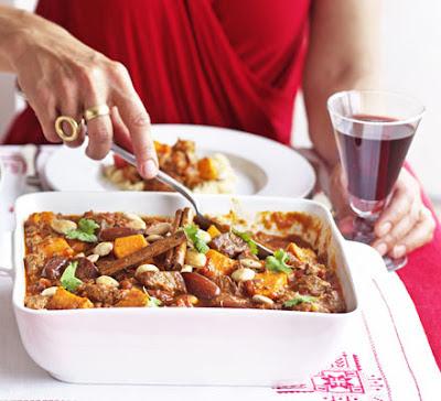 Lamb Tagine With Dates & Sweet Potatoes Recipe
