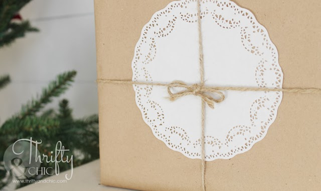 Wrapping Presents with Kraft Paper and Doilies