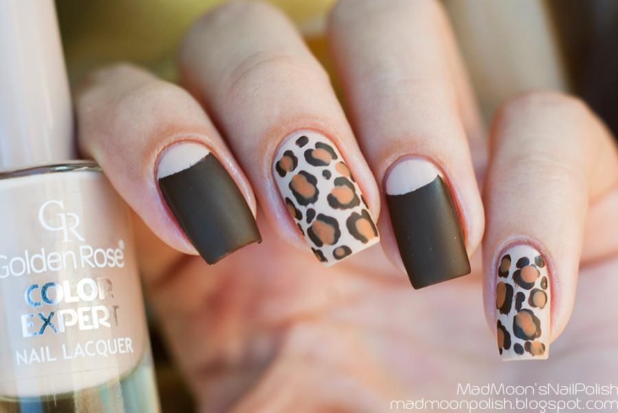 Леопардовый маникюр: Golden Rose Color Expert 06 + Kiko 323 + China Glaze Desert Sun +  Morgan Taylor Mattes a Wrap