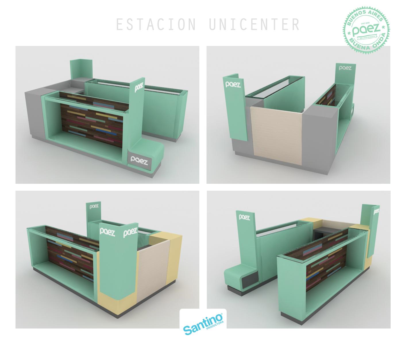 Diseño Góndola Paez® para shopping.