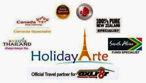 Various Countries Travel Partner Certification. HolidayArte Travel Solutions Pvt. Ltd. - Travel Agents for both inbound and outbound travel in Central Delhi. HolidayArte people provide both standard packages and customized packages. They are specialist agents for various countries' tourism boards (official travel partners). Contact them for flights, visas, packages, anything in holidays, arranging cab services, cruises, hotel accommodation, motel, inn accommodation. HolidayArte were the sponsors and official travel partners for axl8r (Accelerator Formula Racing).