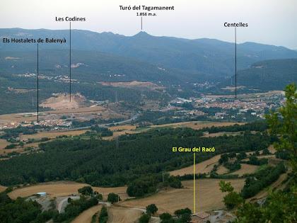 Vista de la Plana des del Collet de la Guàrdia