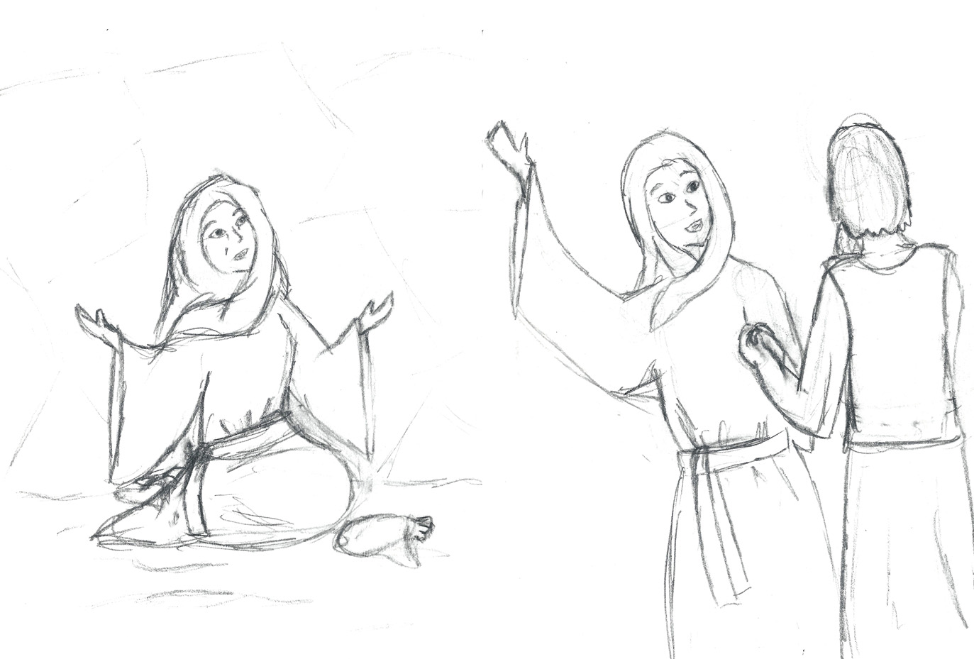 Mary and martha coloring pages