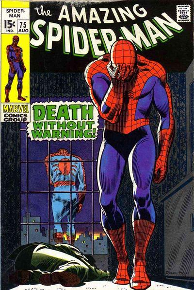 Amazing Spider-Man #75, death of Silvermane, All-time Top Ten John Romita Spider-Man Covers