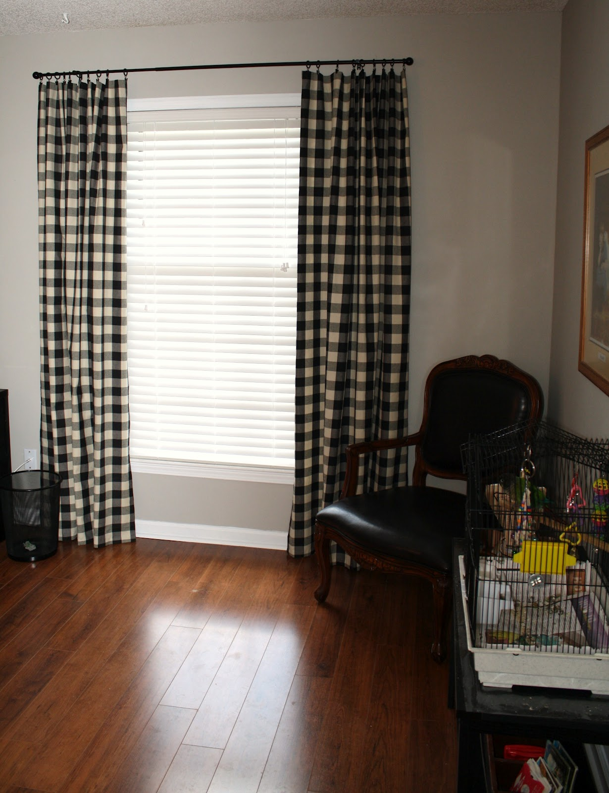 Black and white checked curtains - Country Curtains Made These As I Couldn T Find Any Black Buffalo Check Fabric Anywhere I Didn T Look Too Hard