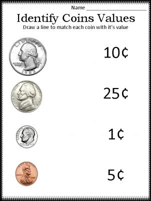 math worksheet : printable kindergarten money worksheets  how to give a 14 year  : Free Money Worksheets For Kindergarten
