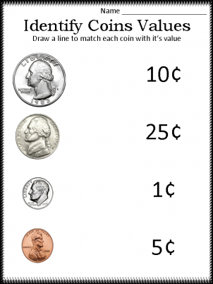 Printables Free Printable Money Worksheets For Kindergarten worksheets for kindergarten davezan coin davezan