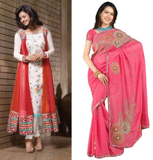 12 Contoh Foto Dan Desain Gambar Model Baju Sari India