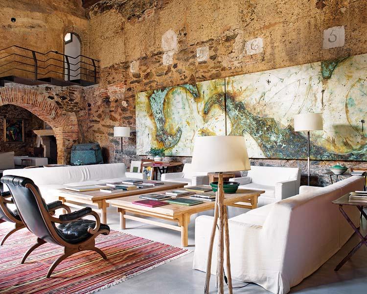 Mix de estilos en un antiguo molino de aceite del s xii - Rustico moderno decoracion ...