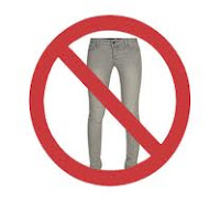 no skinny jeans, what heavy women should not wear, stop it, why are they in our size?!