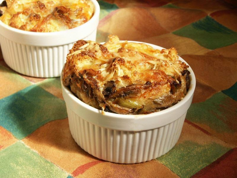Moveable Feasts: Mushroom Bread Pudding