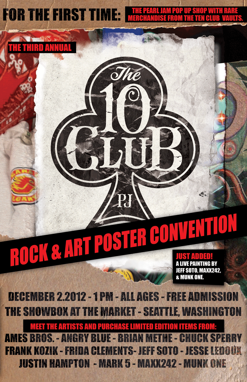 Ten Club Rock Art Poster