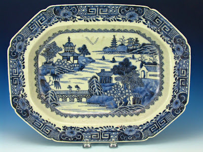 Qianlong blue and white export platter