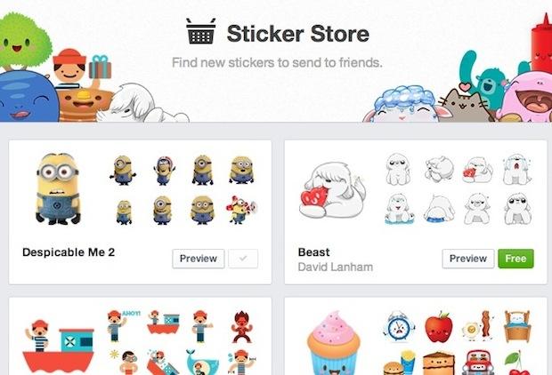 Stickers Facebook Desktop