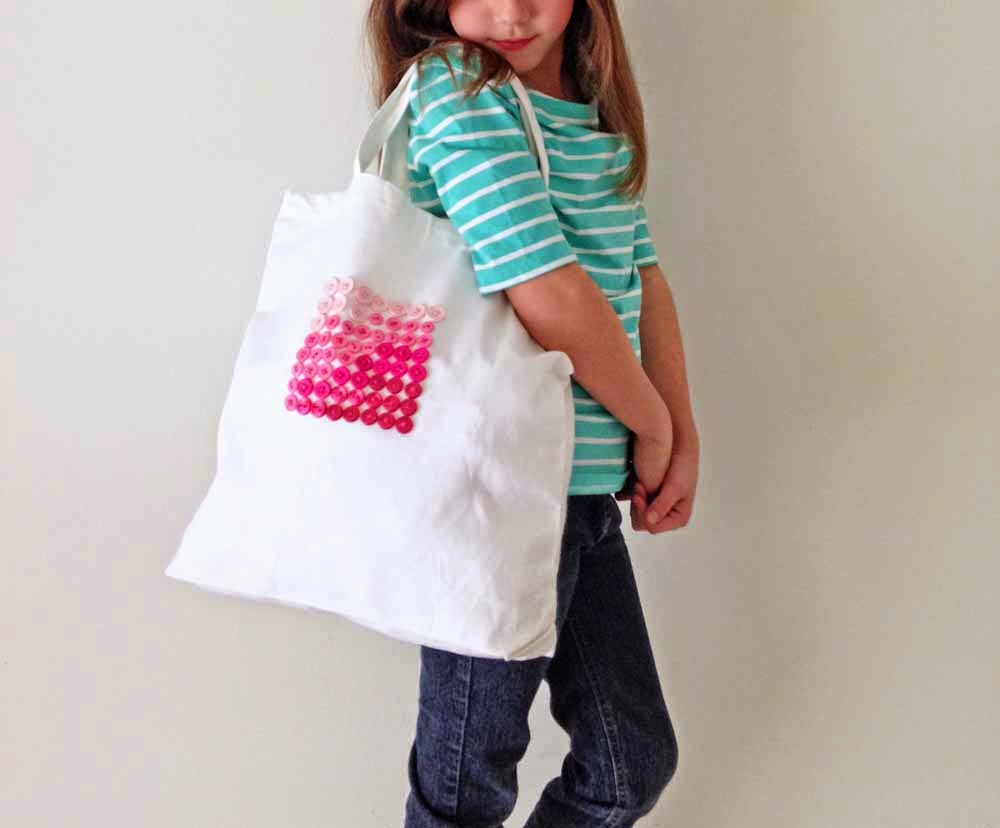 V and Co.: The Button Tote on the BERNINA Blog