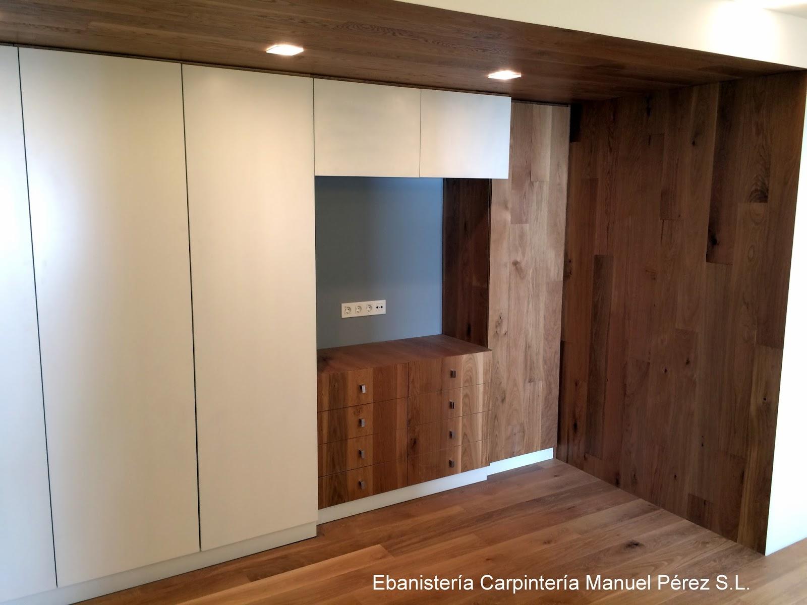Ebanisteria carpinteria manuel perez zaragoza mueble for Mueble tv dormitorio