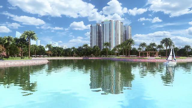 Phối cảnh nhìn từ xa dự án Eco Green City