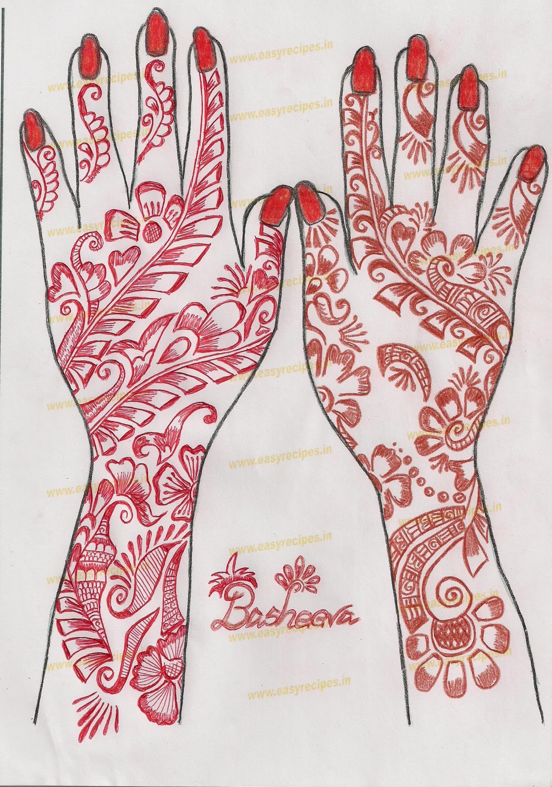 easy henna patterns flower makedescom