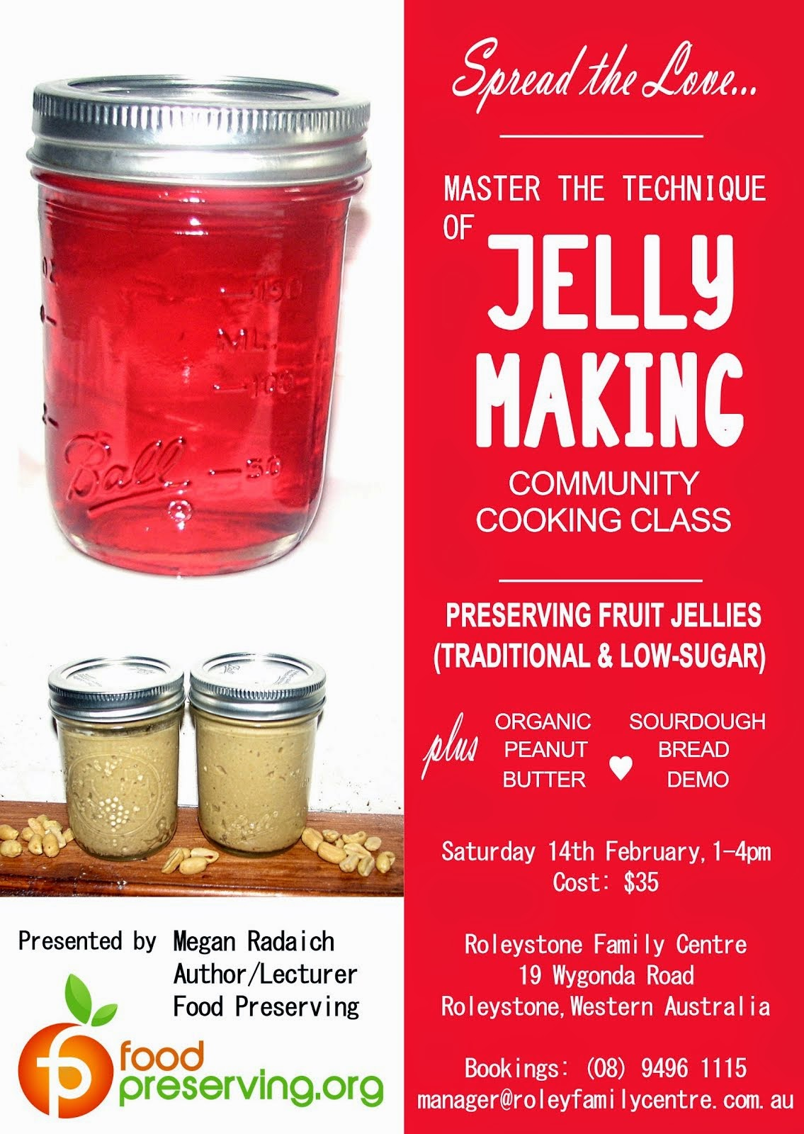 Feb 14 - PB & Jelly-Making Class