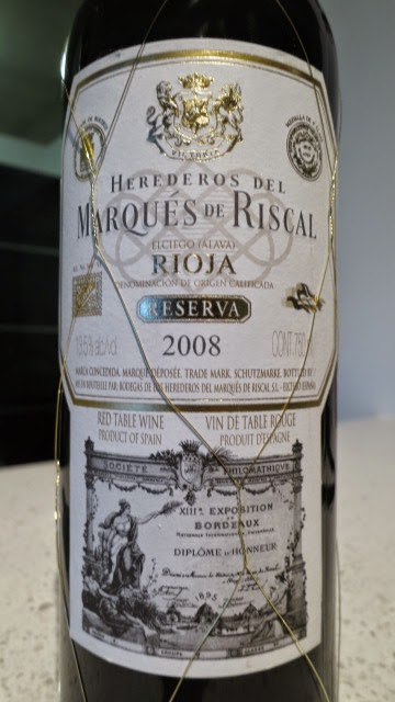 Wine review of 2008 Marqués de Riscal Reserva from DOC Rioja, Spain