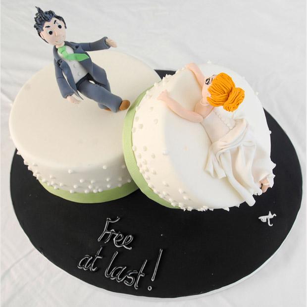 10 bolos de divórcio: Comemorando a separação com humor ...