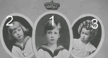 Léopold, Charles et Marie José de Belgique