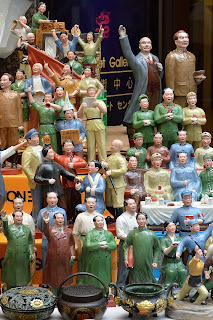 Cultural revolution figurines in souvenir shop in Hong Kong