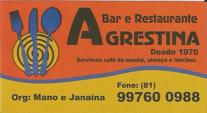 BAR E RESTAURANTE AGRESTINA
